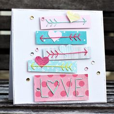 Love card using Amy Tangerine embroidery stencils