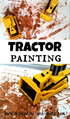 Tractor Painting - process art that is a whole lot of fun for preschoolers and toddlers!