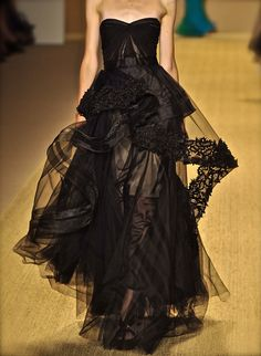 judith-orshalimian:  Monique Lhuilier haute couture gown fashion black sheer