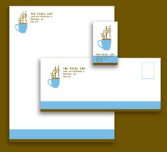 The Pixel Cup -stationary by Jessica Laroche, via Behance