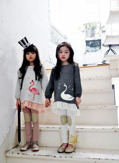 Birds of Dream Frilled Top for girls 2-6 at Color Me WHIMSY. Cool kids fashion, play ready style.