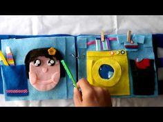 quiet book libro sensorial didáctico  de fieltro - YouTube