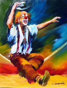 PEINTURE DE CLOWNS - Recherche Google Gruseliger Clown, Es Der Clown, Circus Clown, Creepy Clown, Photo Grand Format, Oil Painting App, Clown Paintings, Send In The Clowns, Clowning Around