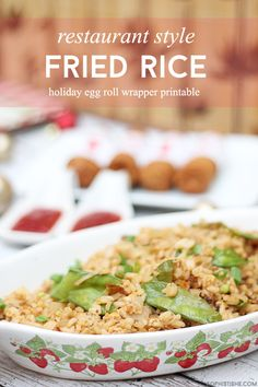 Impress your guests with this Restaurant Style Fried Rice recipe & free printable egg roll wrappers! ‪#‎Cbias‬ ‪#‎TaiPeiGoodFortune‬ #Ad