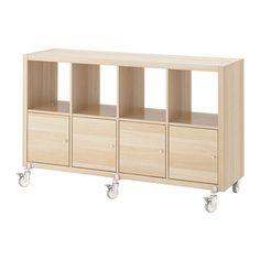IKEA KALLAX shelving unit/4 doors/castors