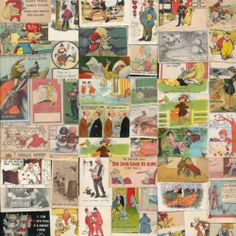 Huge Estate Lot Collection of Old Comic Vintage Postcards Risque Humor Topics | eBay