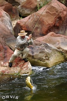 Reel 'em in! #flyfishing #recreation #fishing