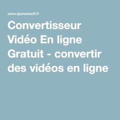 Convertisseur Vidéo En ligne Gratuit - convertir des vidéos en ligne