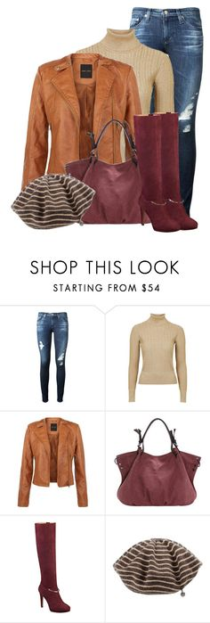 outfit by mkomorowski on Polyvore featuring Topshop Unique, AG Adriano Goldschmied, Nine West and Woolrich