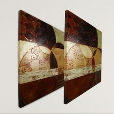WexfordHome 'Kaleidoscope I - Kaleidoscope II' by Carol Robinson 2 Piece Painting Print on Canvas Set