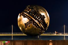 TOURISM in The Marches Region – ITALY - PESARO - La Sfera Grande di Arnaldo Pomodoro - © Copyright Photo Piero Evandri - www.italiamarche.com