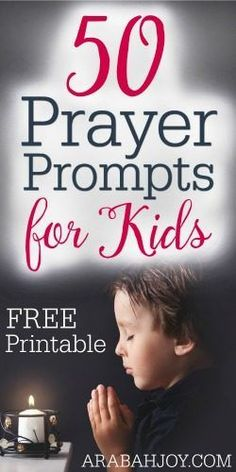 These FREE prayer prompt cards will help you and your child learn how to pray... so simple!