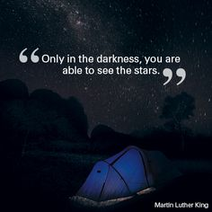 """Monday Motivational: """"Only in the darkness, you are able to see the stars."""" Martin Luther King #quote #motivational #travel"""