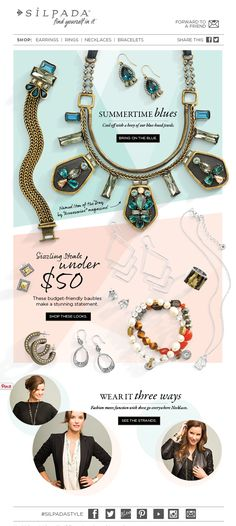 Silpada Designs Jewelry, Summer Blues 2014 Consumer Email