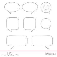 Free speech bubble cut files for Silhouette Studio (to coordinate with Studio L2e's 'Speak' stamp set or the digi kit.) #Silhouette #CutFile