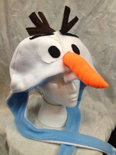 Items similar to Frozen Olaf Inspired Snowman Fleece Hat on Etsy