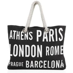 Cities Canvas Bag ($30) ❤ liked on Polyvore featuring home, home improvement, bags, accessories, bolsas, purses and sac