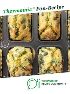 Pumpkin, Feta and Kale Mini Loaves by lianneholow. A Thermomix <sup>®</sup> recipe in the category Baking - savoury on www.recipecommunity.com.au, the Thermomix <sup>®</sup> Community.