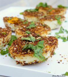 Sumac and Sesame Fried Hard Boiled Eggs