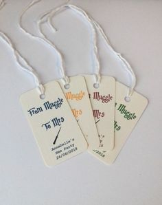 Harry Potter hen party, Harry potter tags, Geek hen party, Harry Potter Wedding, Geek Wedding Tags, Harry Potter Wedding tags.