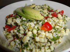 Corn Salad with Tomatoes. This fresh salad can be made the night before just add the avocado right before serving. #GottoBeNC
