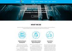 design approach / photo header + tagline