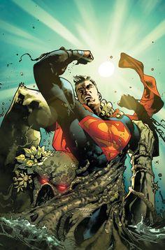 "#Superman #Fan #Art. (DC Universe Rebirth Superman Annual. ""Tangled Up in Green"" Vol.4#1 Cover) By: Jorge Jiménez & Alejandro Sanchez. ÅWESOMENESS!!!™ ÅÅÅ+"