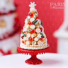 LAST ONE FOR 2014 ! French Croquembouche for Christmas / Holidays - Miniature Food in 12th scale - Made To Order by ParisMiniatures on Etsy https://www.etsy.com/listing/214649703/last-one-for-2014-french-croquembouche