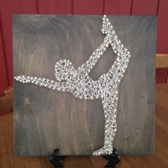 Yoga Pose  String Art  Female Yogi  Healthy door CrookedTreeTraders