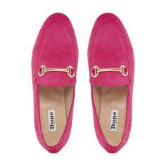 5016df804fd GUILT - Metal Saddle Trim Loafer Shoe - pink