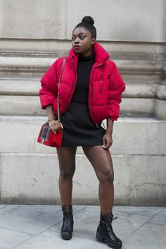 BERSHKA RED PUFFER JACKET More