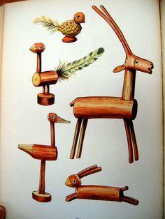 """Czech toys """"folk toys: les jouets populaires"""" emanuel hercik, 1951."""