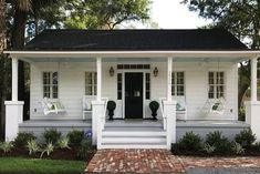 Entire home/apt in Beaufort, US. King Street Cottage is a beautiful historic renovation of a circa Low Country Freedmen Cottage. The home features original heart pine flooring, shiplap walls and high ceilings throughout. The owners have given detailed att Beach House Style, Beach House Tour, Beach Cottage Style, Beach Cottage Decor, Beach Cottage Exterior, Lake Cottage, Cozy Cottage, Coastal Cottage, Beach Houses