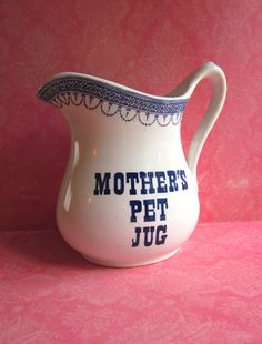 Etsy - Mothers Pet Jug Ironstone Pitcher Royal Crownford by 5and10vintage