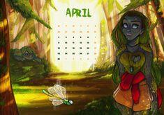 [Calendar] Spring Trolls © Elena Napoli