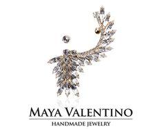 Gold Ear cuff Ear climber Crystal ear cuff by MayaValentino Ear Crawler Earrings, Cuff Earrings, Crystal Earrings, Statement Earrings, Etsy Earrings, Ear Climber, Jewelry Model, Prom Jewelry, Jewellery