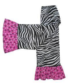 Ruffle Pants Zebra and Pink Black White Flowers on Pink Girls Size 4 | https://www.etsy.com/shop/BoutiquebyTonyaGoudy