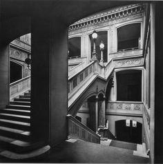 The staircase of Schinkel's Bauakademie in 1911, Berlin