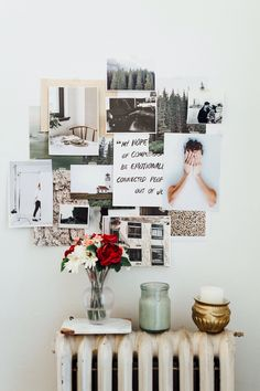 artistic wall decor // photography display