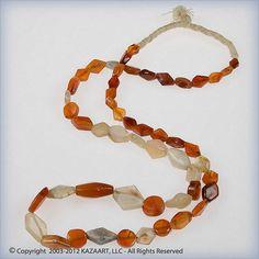 Ancient Carnelian Agate Beads Quartz Tabular Strand Mali Africa | eBay