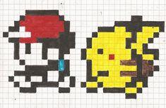 8 Bit Pikachu Following Ash V2 by ~WarbyWasTaken on deviantART