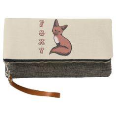 Beautiful Red Foxy Fox Clutch - beautiful gift idea present diy cyo