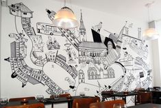 office wall mural - Google Search