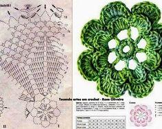 Tecendo Artes em Crochet: Mais um Centro Flores sendo Feito!
