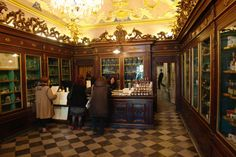 """Farmacia Santa Maria Novella, In Florence, Italy, art and religion have been closely tied for centuries.  Perfumery has been cultivated at the Chuch of Santa Maria Novella's pharmacy since the 13th century.  Catherine de Medici was a customer.  """"Melograno"""" is a very popular scent."""
