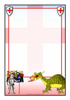 St George A4 page borders (SB4437) - SparkleBox