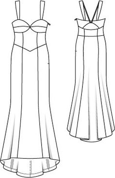 Bustier Gown with Back Cut Out (Petite-Size) Bustiers, Illustration Mode, Drawing Clothes, Petite Size, Pattern Fashion, Diy Clothes, Designer Dresses, Sewing Patterns, Dressing