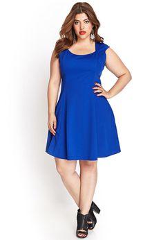 Textured Skater Dress #F21Plus LOVE this dress!