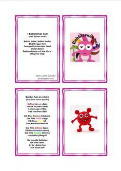 Sångkort-Babblarna Bead Crafts, Diy And Crafts, Diy For Kids, Crafts For Kids, Saga, Preschool Themes, Toddler Fun, Pre School, Kids And Parenting