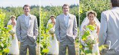 First Look, winery, Samson Estates Winery Wedding Photography, Jamie V Photography